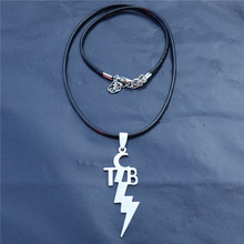 Buy elvis tcb and get free shipping on aliexpress 10pcslot women fashion stainless steel pendant tcb elvis presley necklace jewelry with black rope mozeypictures Gallery