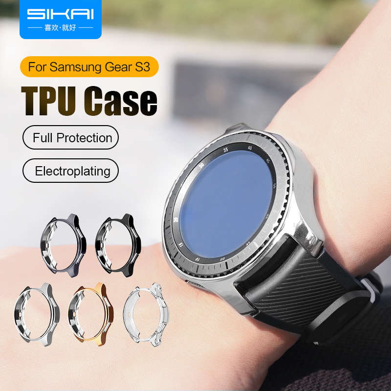 SIKAI Hard TPU High-quality Watch Case For Samsung Gear S3 Frontier Anti-fall Protective Shell For Samsung Gear S3 Watch Cover