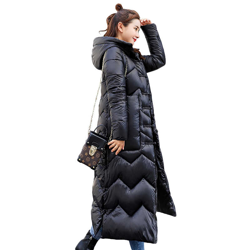 7ecea90af5b8 2018 пуховики, парки, женские зимние пальто, новый стиль, x-long bread
