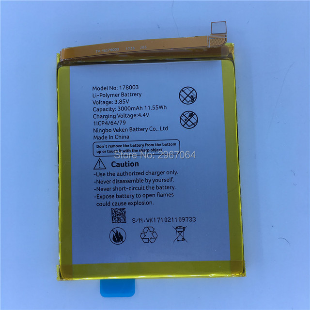 Mobile phone battery vernee M5 battery 3050mAh  5.2inch MTK6750 High capacit Long standby time Original battery