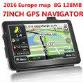 2017 nova 7 polegada CAMINHÃO Do Carro HD GPS Navigator 800 MHZ FM/8 GB/DDR 128 M Novo mapas Rússia/Bielorrússia/Cazaquistão Europa/EUA + Canadá CAMINHÃO