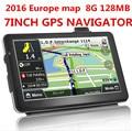 2017 nuevo 7 pulgadas HD Car TRUCK Navegador GPS 800 MHZ FM/8 GB/DDR 128 M Nuevo mapas de Rusia/Bielorrusia/Kazajstán Europa/EE. UU. + Canadá CAMIÓN
