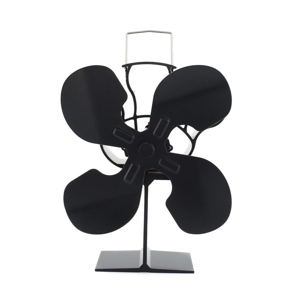 4 Blades Heat Powered Stove Fan Model Promotion Blows Heat Up To 300 F/m 4 Blades Heat Powered Wood Fan