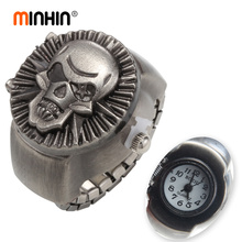 MINHIN Punk Ring Watch For Men Skull Ring Watches Fashion Ca