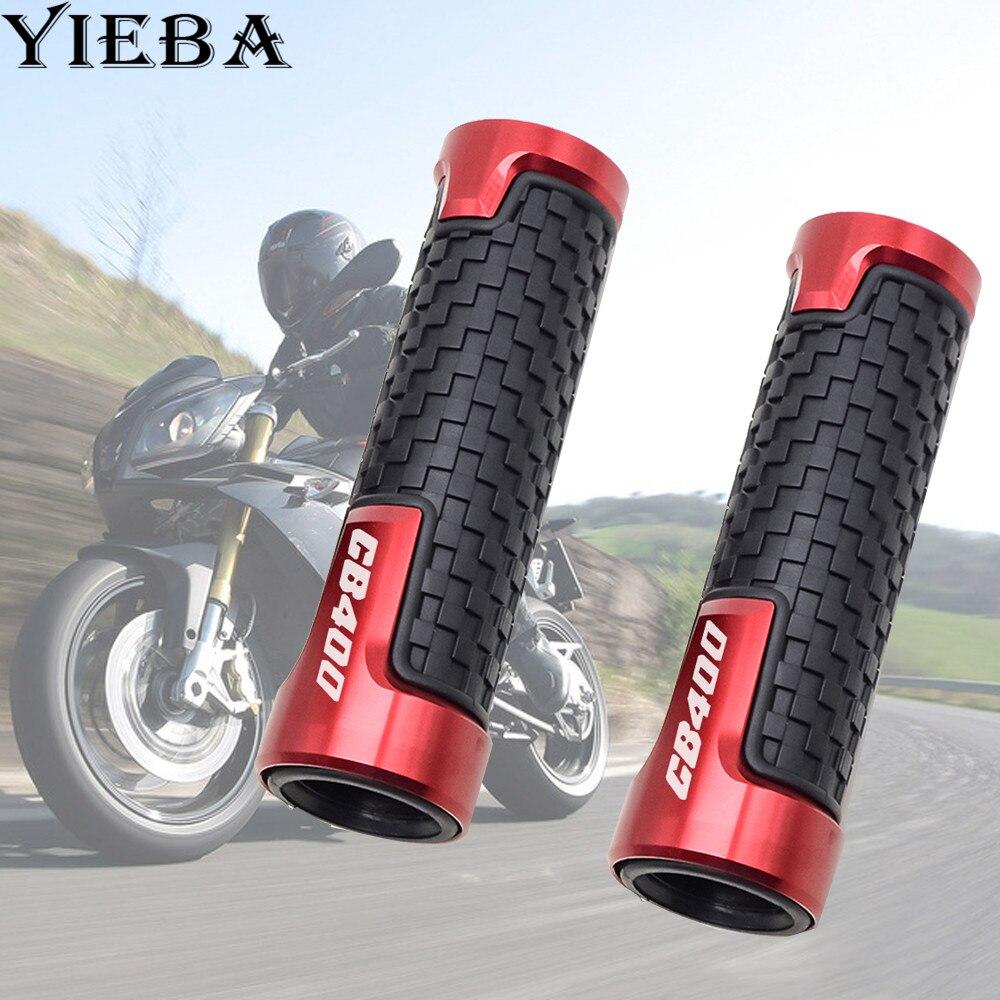 High-quality Motorcycle Anti-Skid Scooter Handle Grips Cnc 22mm Bar Hand Handlebar Grip For For Honda CB400 CB 400 CB400SF