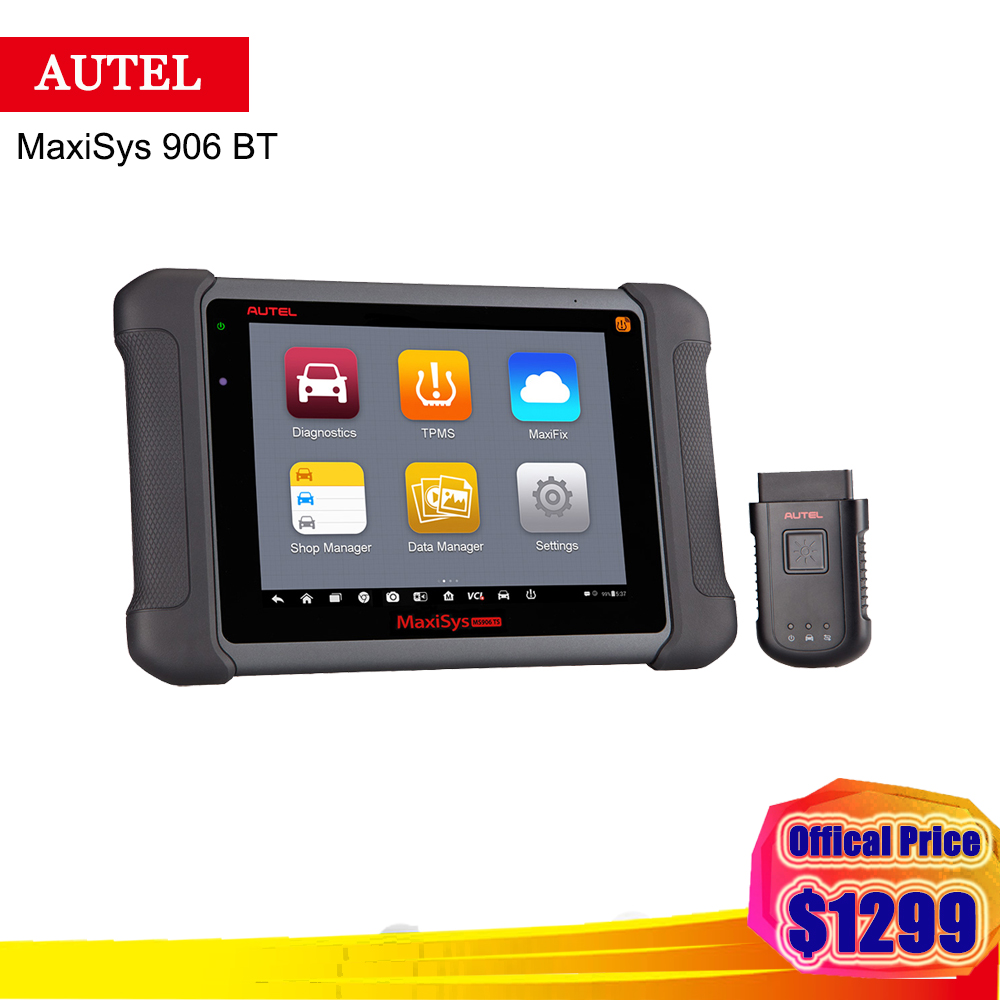 2018 Newest Autel Maxisys 906 BT With Full System ECU Coding / Records and playbacks live data Auto Diagnostic Tools printio kids live newest