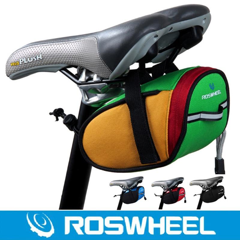 Roswheel Bike Bag MTB Mountain Road Cycle Bicycle Saddle Bag Cycling Rear Back Seat Seatpost Bag