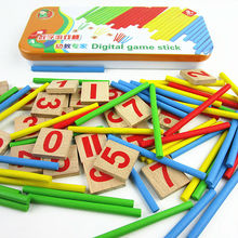 Free shipping children s mathematics teaching aids Enlightenment Digital Game Stick Maths Training kids educational toys