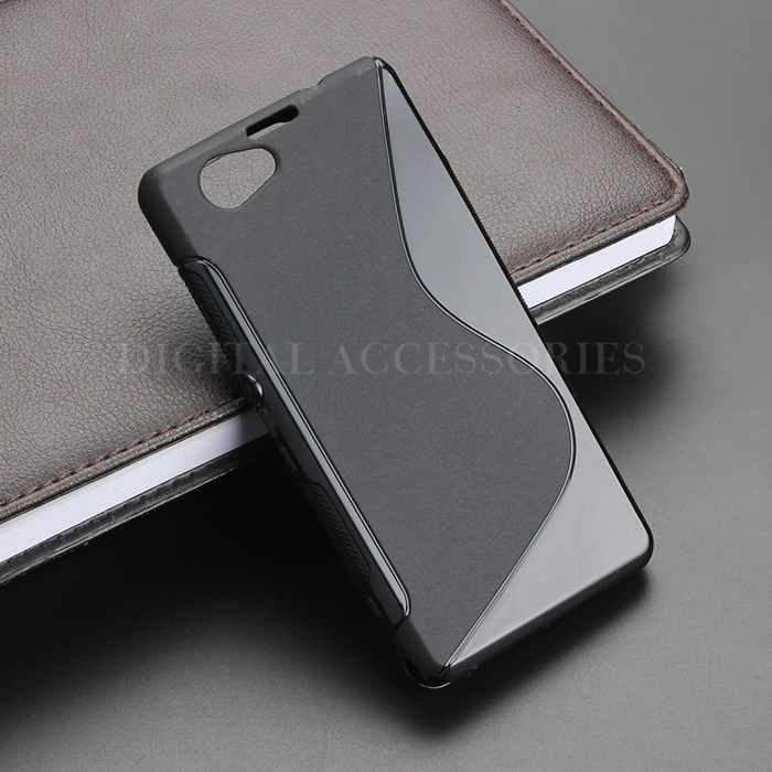 8 Màu S Dòng Gel TPU Slim Mềm Chống Skiding Trường Hợp Trở Lại bìa Cho Sony Xperia Z1 Mini Nhỏ Gọn D5503 Điện Thoại Di Động Túi silicone