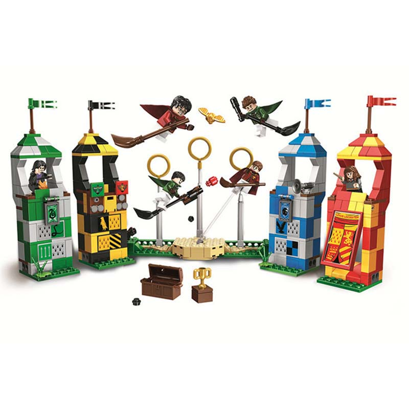 New Harry Potter Movie Quidditch Match Building Kit Blocks Toys For Children Festival Gift Compatible With Legoings 75956