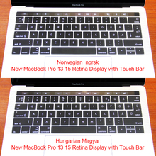 Norwegian Hungarian Silicone Keyboard Protector Stickers Cover Skin For New Macbook 12″A1534 Pro 13″ A1708 No Touch Bar & ID
