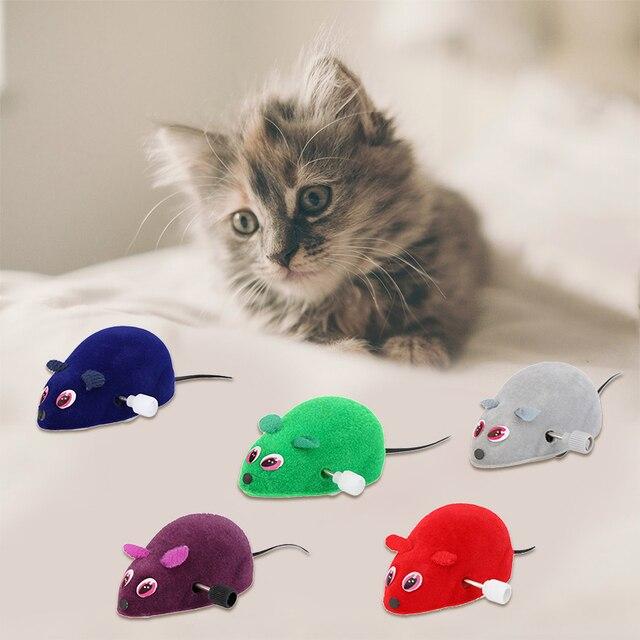 Divertente Pet Gatto Mouse Giocattolo Clockwork Mouse Ratti Giocattolo per il Ga