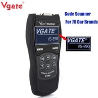 VS890 OBD2 Code Reader Universal Vgate VS890 OBD2 Scanner Multi language Car Diagnostic Tool Vgate MaxiScan VS890 Free Shipping