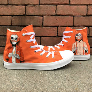 Wen High Top Unisex Canvas Sneakers Orange Sport Shoes Design Red Hair  Trendy Males 0bb7aa05676d