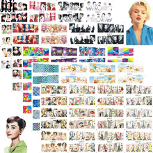 60pcs Mixed Design Nail Art Water Transfer Stickers Set Flowers Sexy Lady Women Wraps Nails Water Decals Decoration JIBN121 180