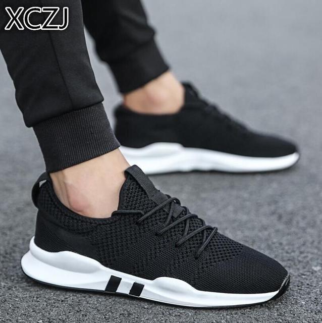 2019 популярная мужская обувь легкая спортивная обувь дышащая Нескользящая повседневная обувь модная обувь для взрослых zapatillas hombre черный