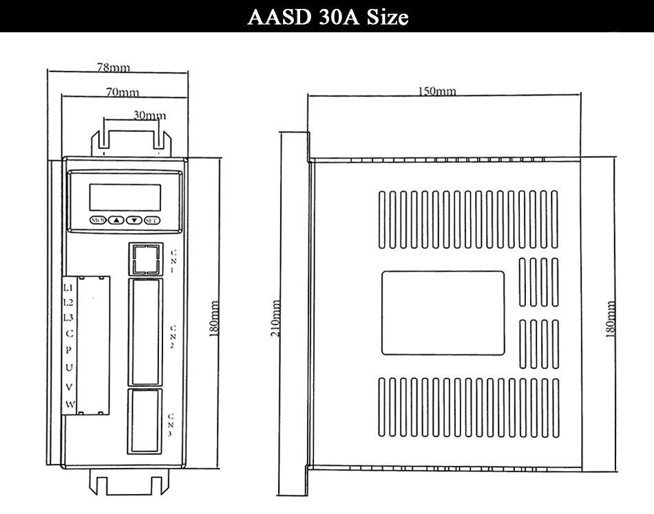 Серводвигатель 1,5 кВт AC серво-двигатель в комплекте 130ST-M10015 AC Серводвигатель 220V AASD 30A для гравера и резки