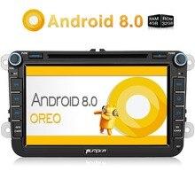 Тыквы 2 Din 8 »Android 8,0 автомобилей Радио dvd-плеер gps навигации для VW/Skoda/Seat/ гольф Видеорегистраторы для автомобилей 4 ГБ Оперативная память Wi-Fi 4 г fm-радио стерео