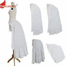 CostumeBuy для женщин рококо Викторианский гражданская война свадебное платье косплей подъюбник кринолин нижняя юбка белая клетка рамки Паньер суета
