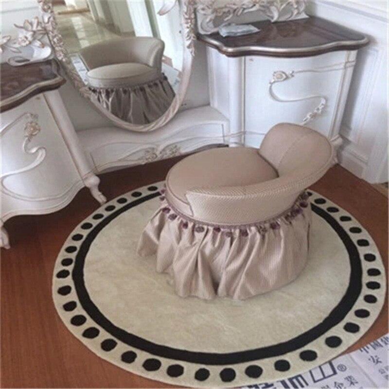 Ручной акриловый круглый ковер, серый коврик для гостиной, коврик для софы, кровати, спальни, модный, на заказ, коврик для примерки, настраиваемый