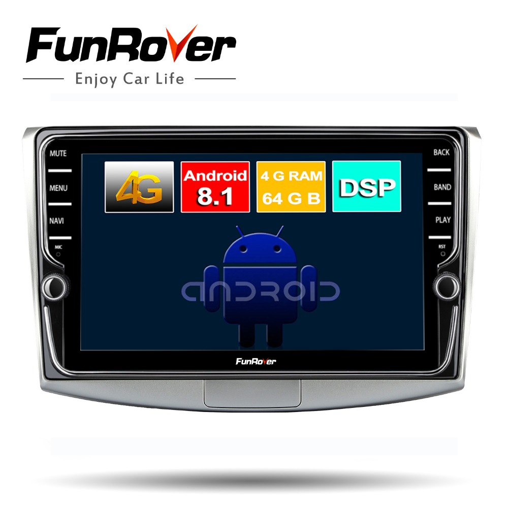 FUNROVER 8cores android 8 1 car dvd multimedia player for Volkswagen Passat CC B6 B7 Magotan