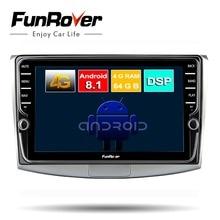 FUNROVER 8 ядер android 8,1 автомобильный dvd мультимедийный плеер для Volkswagen Passat CC B6 B7 Magotan 2011-2014 стерео радио GPS navi DSP