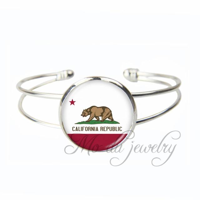 California State Flag Open Cuff Bangle The Of Bracelet Ca Jewelry Gl