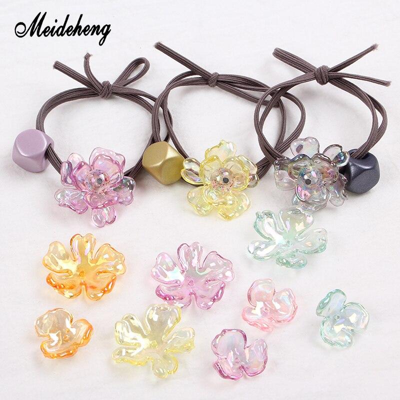 100pcs Acrylic Scrub Flower Jewelry Accessories DIY Handmade Jewelry Making 21mm