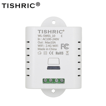 Tishric Basic Smart WIFI Switch 10A/16A Wireless Timing Delay Remote Control Light Switch Support google home Alexa