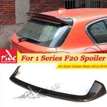 Fits For BMW F20 Rear Roof Spoiler Wing Carbon Fiber AC-Style 1 Series 118i 120i 128i 130 rear diffuser trunk wing 12-in