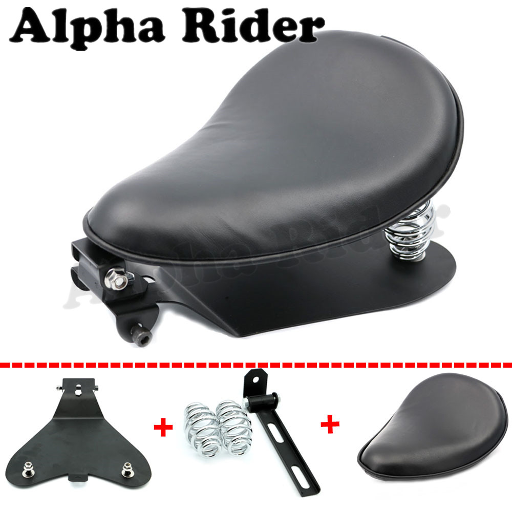Motorcycle Solo Rivet Seat Cover& Baseplate& Springs& Bracket Mounting Kit for Harley Sportster XL 883 1200 2004-2006 2010-2015