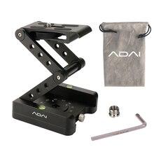 ADAI 360 אלומיניום מתקפל Z להגמיש הטיה פאן ראש חצובה Ballhead שחרור מהיר צלחת מצלמה Stand עבור ניקון Canon DSLRs גולשים