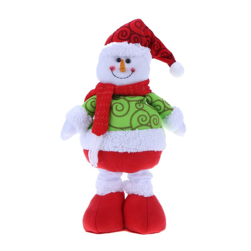 Cute Christmas Snowman Santa Dolls Festive Hanging Decorate Navidad Figurine Christmas tree Ornaments Kids Christmas Gifts wholesale resin snowman family of 4 christmas ornaments personalized gifts that can write own name for holiday and home decor
