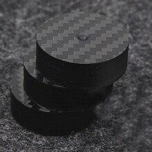 Hallo End Schwarz Carbon Faser Lautsprecher Isolation 40x15mm 25x5mm 30X10mm 50X20mm Basis Pad Schuh Füße Hifi audio Amp kegel lautsprecher pad