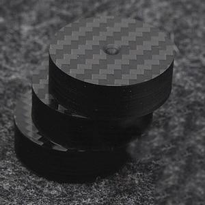 Image 1 - Hi End Black Carbon Fiber Speaker Isolation 40x15mm 25x5mm 30X10mm 50X20mm Base Pad Shoe Feet Hifi audio Amp cone speaker pad