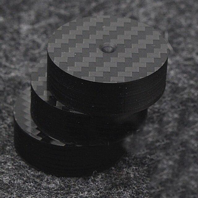 Hi End Black Carbon Fiber Speaker Isolation 40x15mm 25x5mm 30X10mm 50X20mm Base Pad Shoe Feet Hifi audio Amp cone speaker pad
