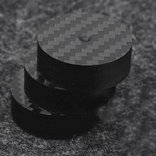 Hi End czarne włókno węglowe izolacja głośnika 40x15mm 25x5mm 30X10mm 50X20mm podstawa Pad stopy buta Hifi audio Amp stożek głośnik pad