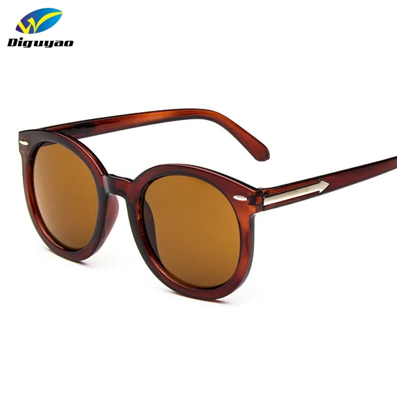 DIGUYAO oculos de sol feminino 2018 Класически дизайн ретро метал стрелка Дамски кръгли очила марка дизайнерски слънчеви очила мъже