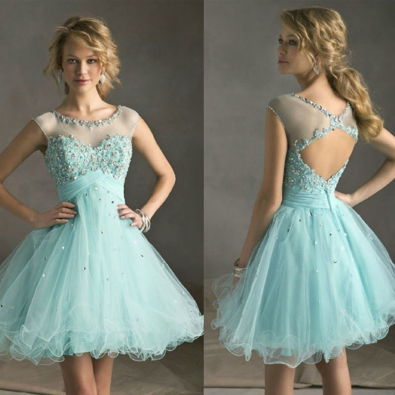 Popular Short Turquoise Party Dresses-Buy Cheap Short Turquoise ...