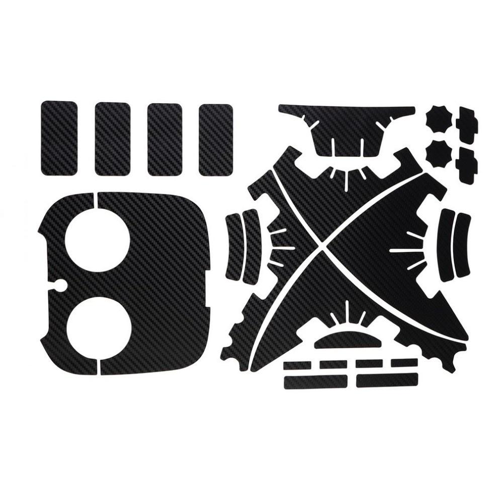 1 Set Waterproof Protective Carbon Fiber Decal Skin Sticker For DJI Phantom 3 Copter Shell Remote Controller