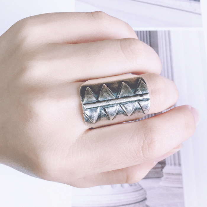 S925 sterling silver ring finger joint fashion trendsetter lady atmosphere exaggerated Korean jewelry silver