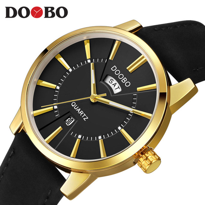 Mens Watches Top Brand Luxury 2017 DOOBO Watch Men Fashion Business Quartz Watch Sport Casual Male Watches Relogio Masculino mens watch top luxury brand fashion hollow clock male casual sport wristwatch men pirate skull style quartz watch reloj homber