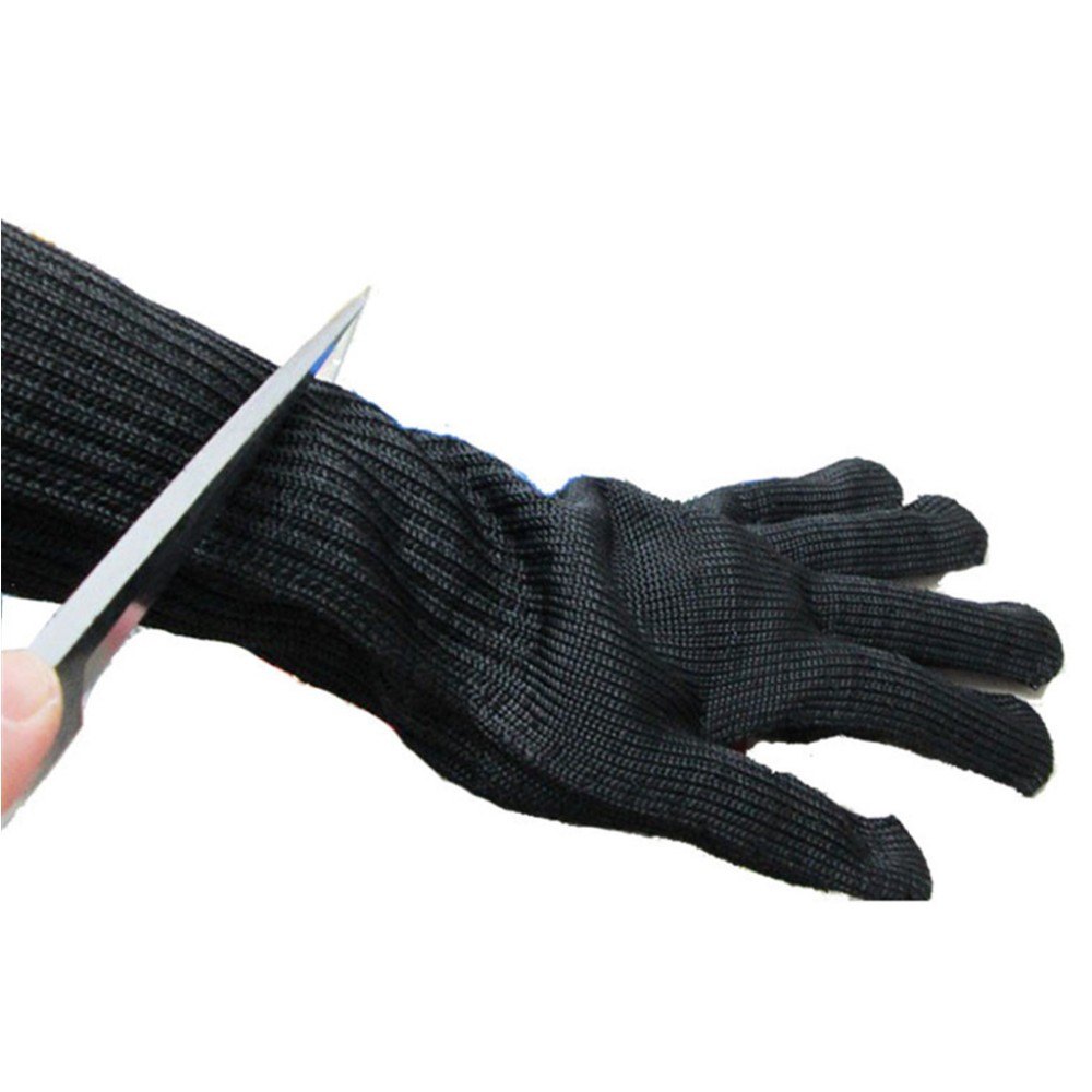 (one pair)Long Cut Resistant Working Gloves Wire Protective Safety Gloves 10 pair safety cut proof stab resistant stainless steel wire metal mesh butcher gloves cut resistant working safety