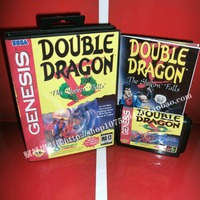 Double Dragon V The Shadow Falls Game Cartridge With Box And Manual 16 Bit MD Card