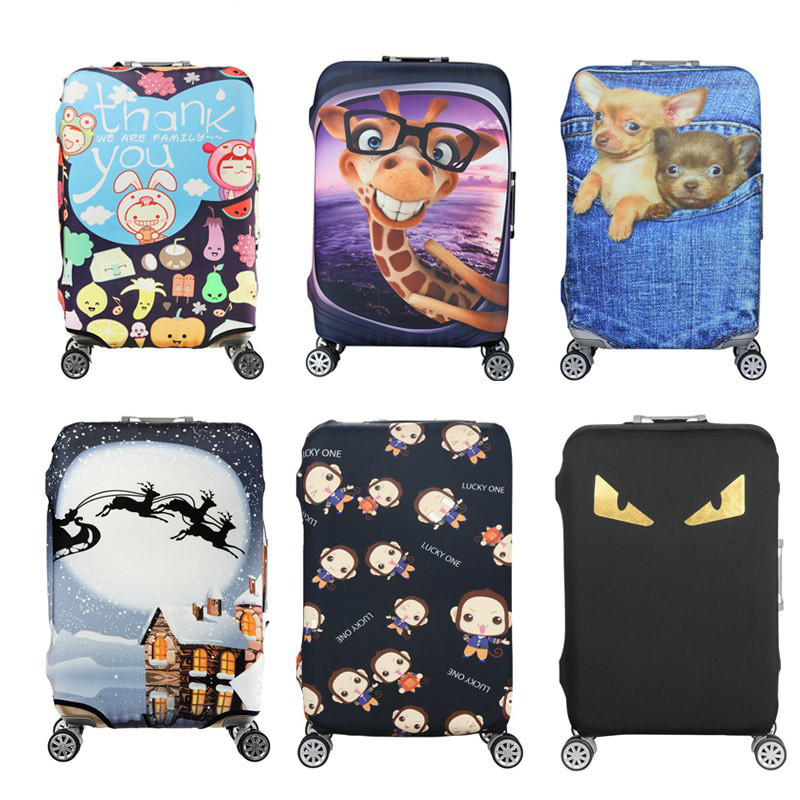 Thicken Travel Elastic Luggage Protective Cover For19-32 Inch Trolley Case Cover Suitcase Protect Dust Bag Travel Accessories