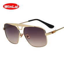Winla Fashion Design Women Sunglasses Classic Square Frame Metal Legs Sun Glasses Retro Shades Ladies Goggle Oculos UV400 WL1049