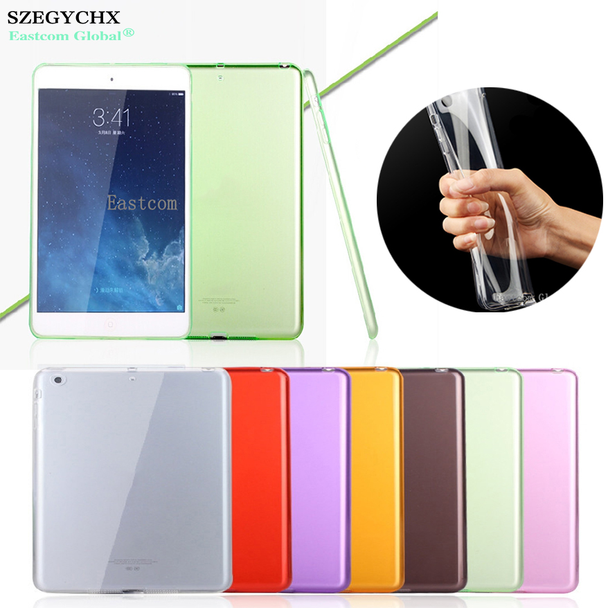SZEGYCHX For iPad 2 3 4 Case For iPad Pro 9.7 inch Case Crystal Transparent Silicon Ultra Thin Slim TPU Soft Cover for ipad pro 12 9 case tpu soft protector 2017 semi bezel back cover for ipad pro 12 9 2017 crystal transparent can see logo