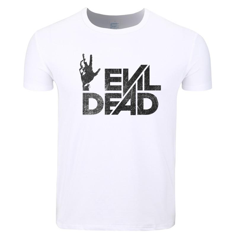 Asian Size Men Print Evil Dead Boomstick Movie T-shirt O-Neck Short Sleeve Summer Casual Fashion T-shirt HCP4348