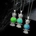 Brilham No Escuro Animal Bonito Da Coruja Oco Pingente Luminescente Brilhante Para As Mulheres Homens Jóias Steampunk Colares & Pingentes