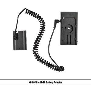 """Image 2 - Andoer NP F970 à NP FW50/EN EL15/LP E6 câble de ressort dadaptateur de plaque de montage de batterie factice avec vis de 1/4"""""""